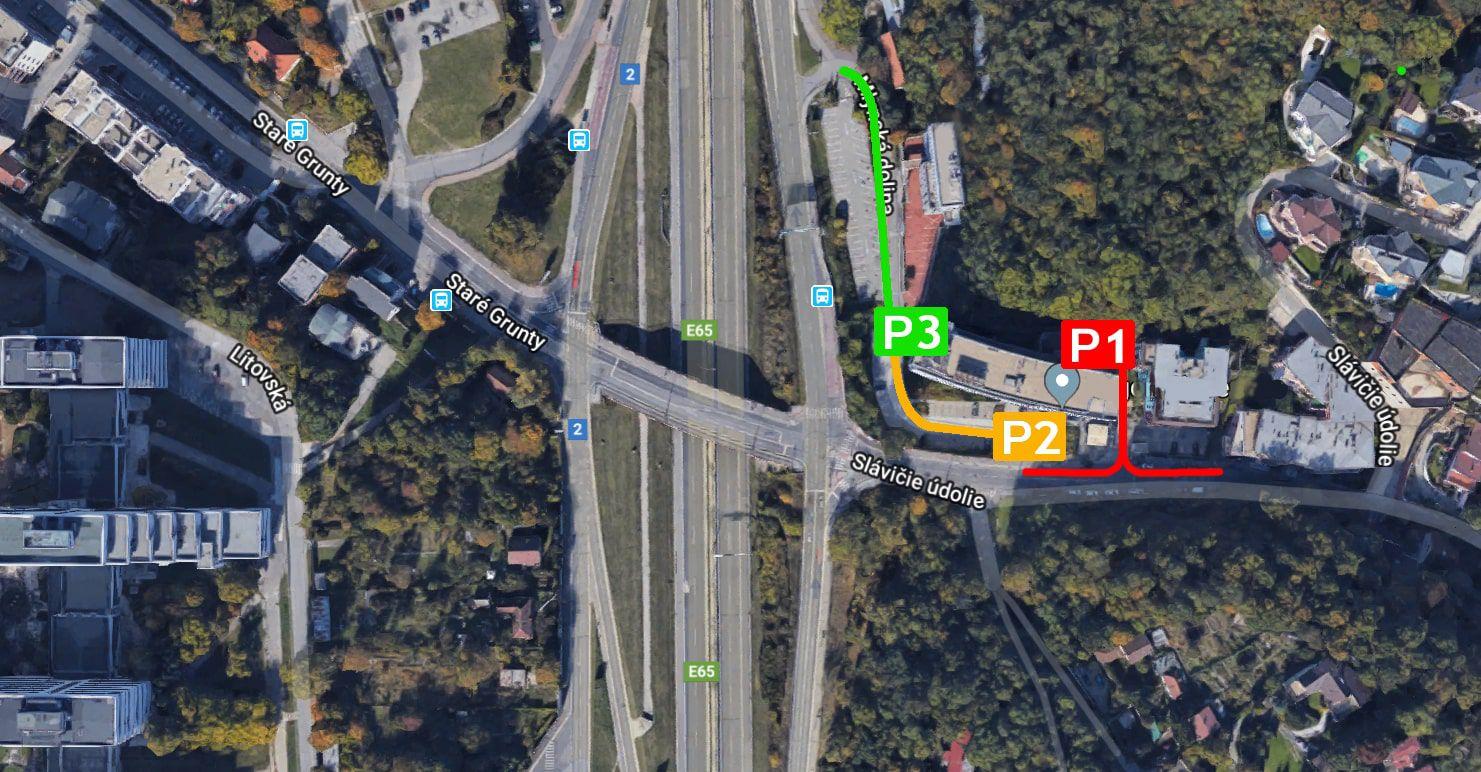 Parkovacia mapa